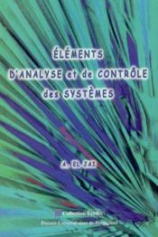 Elements D Analyse Et De Controle Des Systemes - Couverture - Format classique