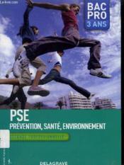 PSE ; BAC pro ; seconde (édition 2009) - Couverture - Format classique