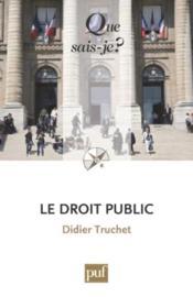 Le droit public (2e édition) - Couverture - Format classique