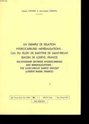 Un Exemple De Relation Hydrocarbures Mineralisations: Cas Du Filon De Barytine De Saint-Privat - Couverture - Format classique