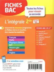 FICHES BAC ; l'integrale 2de - 4ème de couverture - Format classique
