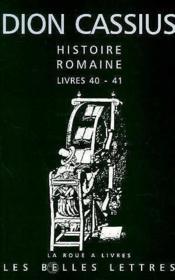 Histoire romaine ; livres 40 et 41 - Couverture - Format classique