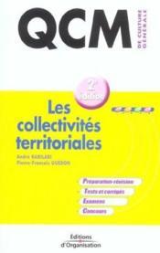 Qcm De Culture Generale ; Les Collectivites Territoriales - Couverture - Format classique