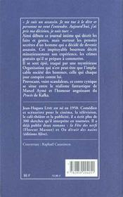 Journal authentique d'un assassin - 4ème de couverture - Format classique