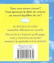 Le petit livre du calme - 4ème de couverture - Format classique