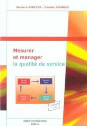 Mesurer et manager la qualite de service (édition 2004) - Intérieur - Format classique