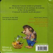 Petites histoires de la ferme - 4ème de couverture - Format classique
