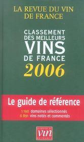 Classement des meilleurs vins de france 2006 - Intérieur - Format classique