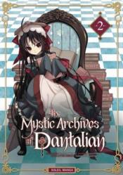The mystic archives of Dantalian t.2 - Couverture - Format classique