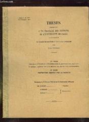 Theses Presentees A La Faculte Des Sciences De L Universite De Paris Pour Obtenir Le Grade De Docteur Es Sciences Physiques. - Couverture - Format classique