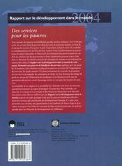 Services Pour Les Pauvres (Des) - 4ème de couverture - Format classique
