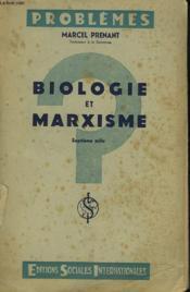 Biologie Et Marxisme. Envoi De L'Auteur. - Couverture - Format classique