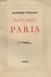 Paysages De Paris - Couverture - Format classique