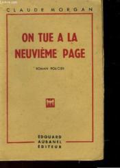 On A Tue La Neuvieme Page - Couverture - Format classique