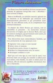 Fleurs Des Sens - 4ème de couverture - Format classique