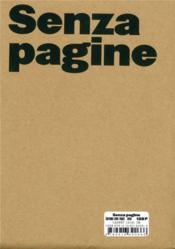 Senza Pagine - Couverture - Format classique
