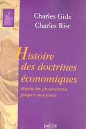 Histoire des doctrines économiques ; depuis les physiocrates jusqu'à nos jours - Intérieur - Format classique