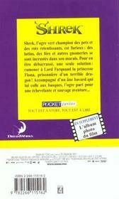 Shreck - 4ème de couverture - Format classique