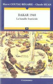 Dakar 1940 ; La Bataille Fratricide - Intérieur - Format classique