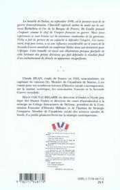 Dakar 1940 ; La Bataille Fratricide - 4ème de couverture - Format classique