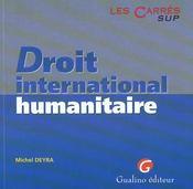 Droit internation.humanitaire - Intérieur - Format classique