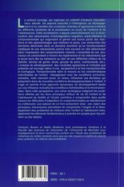Violence chez l'enfant : approches cognitives, developpementale, neurobiologi6 - 4ème de couverture - Format classique