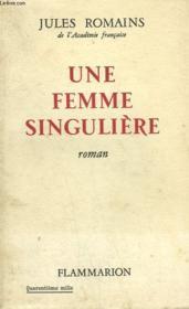 Une Femme Singuliere. - Couverture - Format classique