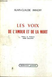 Les Voix De L'Amour Et De La Mort. - Couverture - Format classique