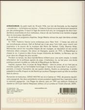 Ainadamar ; la fontaine aux larmes - 4ème de couverture - Format classique