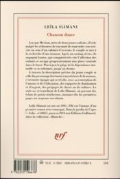 Chanson douce - 4ème de couverture - Format classique