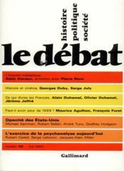 Revue Le Débat N.30 - Couverture - Format classique
