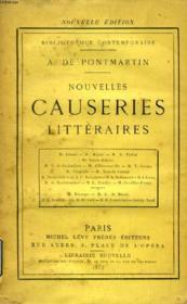 NOUVELLES CAUSERIES LITTERAIRES (M. Guizot, M. Miguet, A. Pichot, De Saint-Aulaire, V. de Chalambert, M. d'Haussonville, V. Cousin...) - Couverture - Format classique