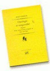 Ontologie et temporalité (2e édition) - Couverture - Format classique