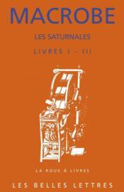 Saturnales (livres i-iii) - Couverture - Format classique