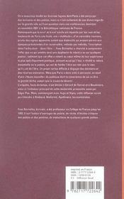 Poete et le flot mouvant des multitudes : nerval - 4ème de couverture - Format classique