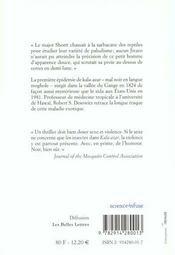 Kala-azar ; histoire extraordinaire d'une epidemie - 4ème de couverture - Format classique