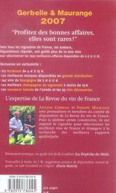 Le guide des meilleurs vins à petits prix (édition 2007) - 4ème de couverture - Format classique