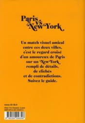 Paris vs New York - 4ème de couverture - Format classique