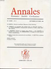 ANNALES : ECONOMIES SOCIETES CIVILISATIONS 40e ANNEE N°5 1985 : Science et politique, réponse à Carlo Ginzburg... - Couverture - Format classique