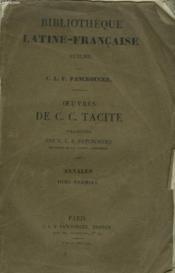 Oeuvres. Traduite Par C.L.F. Panckoucke. Annales. Tome Premier. - Couverture - Format classique