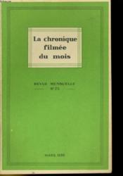 La Chronique Filmee Du Mois N°25 - Couverture - Format classique