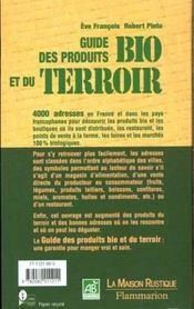Guide Des Produits Bio Et De Terroir - 4ème de couverture - Format classique