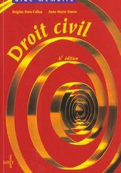 Droit Civil ; 6e Edition - Intérieur - Format classique
