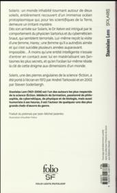 Solaris - 4ème de couverture - Format classique