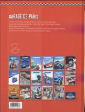 Le garage de Paris t.2 ; dix nouvelles histoires de voitures populaires - 4ème de couverture - Format classique