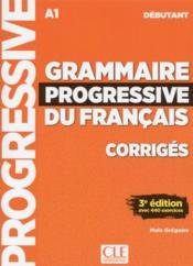 FLE ; grammaire du français ; débutant ; A1 (édition 2018) - Couverture - Format classique