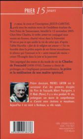 Prier 15 jours avec... T.16 ; Charles de Foucauld - 4ème de couverture - Format classique