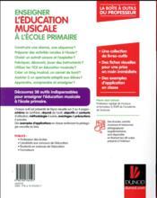 Enseigner l'éducation musicale à l'école primaire - 4ème de couverture - Format classique