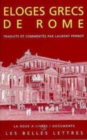 Eloges grecs de rome - Couverture - Format classique