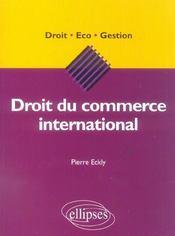 Droit Du Commerce International - Intérieur - Format classique
